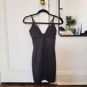 MISSGUIDED Black strappy bodycon mini dress